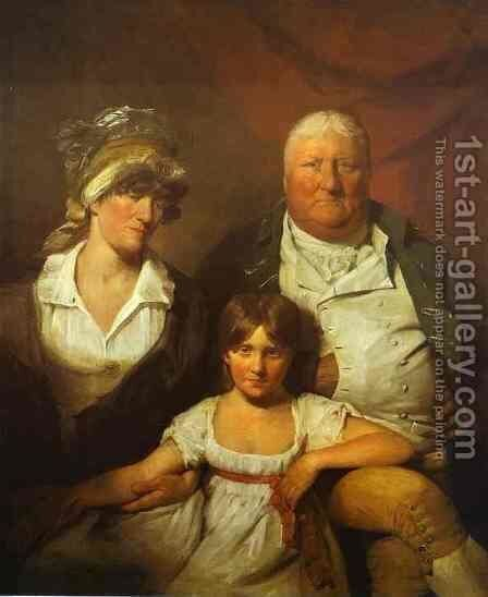 William Chalmers Bethune His Wife Isabella Morison And Their Daughter Isabella 1804 by Sir David Wilkie - Reproduction Oil Painting