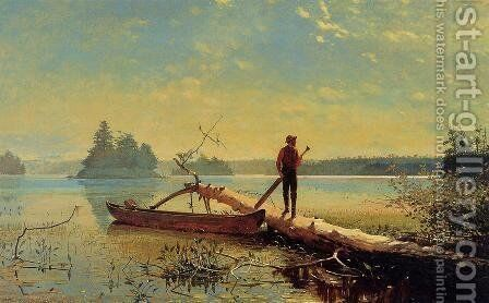 An Adirondack Lake 1870 by Winslow Homer - Reproduction Oil Painting