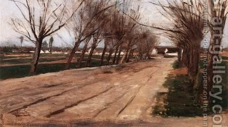 Alley by Gyula Aggházy - Reproduction Oil Painting