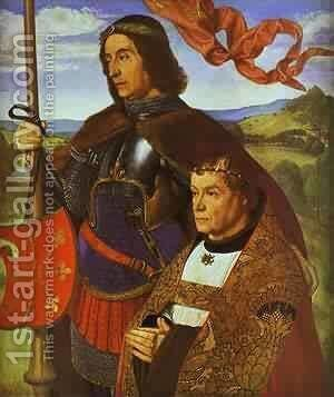 Portrait Of Francis De Chateaubriand Presented By St Maurice by Istvan Szonyi - Reproduction Oil Painting