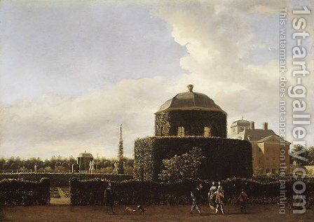 The Huis ten Bosch Seen from the Side by Jan Van Der Heyden - Reproduction Oil Painting