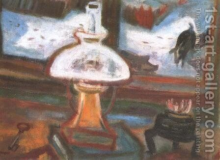 Dark Times IV (Still life with Black Pigs) 1940 by Gyula Hincz - Reproduction Oil Painting