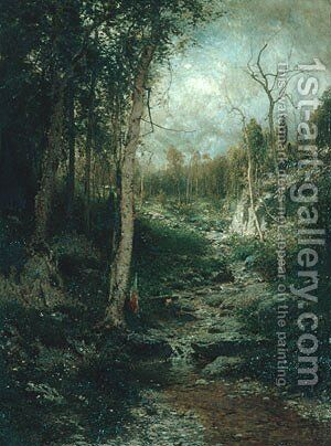 An Old Clearing 1881 by Alexander Helwig Wyant - Reproduction Oil Painting
