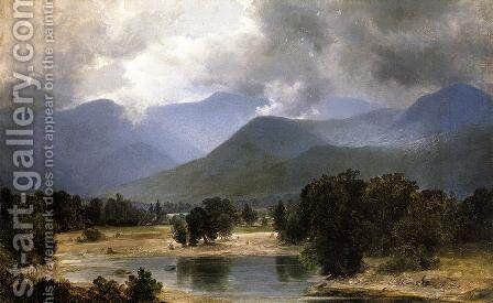 In the Keene Valley, New York 1871 1872 by Alexander Helwig Wyant - Reproduction Oil Painting
