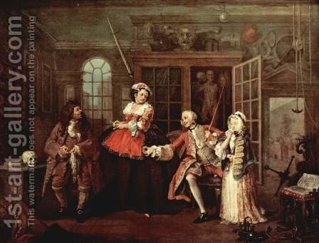 The Visit To The Quack Doctor 1743 by William Hogarth - Reproduction Oil Painting
