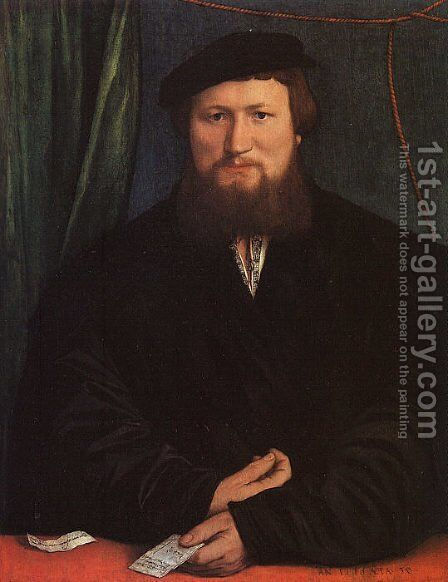 Derek Berck 1536 by Hans, the Younger Holbein - Reproduction Oil Painting