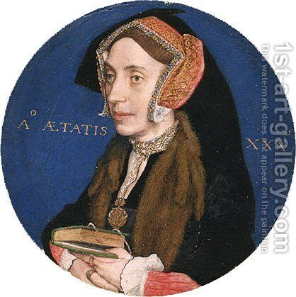 Margaret More  Wife of William Roper by Hans, the Younger Holbein - Reproduction Oil Painting