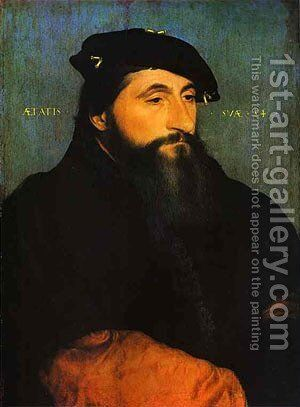 Portrait Of A Young Man 1520 by Hans, the Younger Holbein - Reproduction Oil Painting
