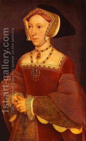 Portrait Of Jane Seymour 1537 by Hans, the Younger Holbein - Reproduction Oil Painting
