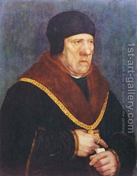 Portrait Of Sir Henry Wyatt by Hans, the Younger Holbein - Reproduction Oil Painting