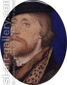 Thomas Wriothesley  First Earl of Southampton ca. 1535 by Hans, the Younger Holbein - Reproduction Oil Painting