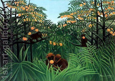 The Tropics by Henri Julien Rousseau - Reproduction Oil Painting