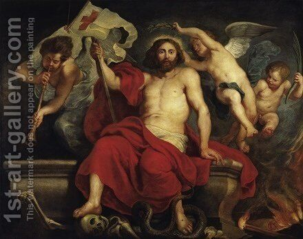 Christ Triumphant over Sin and Death 1615 1622 by Rubens - Reproduction Oil Painting