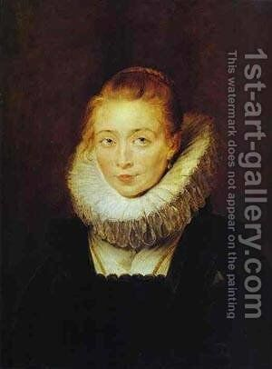 Portrait Of A Lady With A Rosary 1609-1610 by Rubens - Reproduction Oil Painting