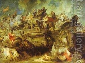 The Battle Of The Amazons 1618-1620 by Rubens - Reproduction Oil Painting