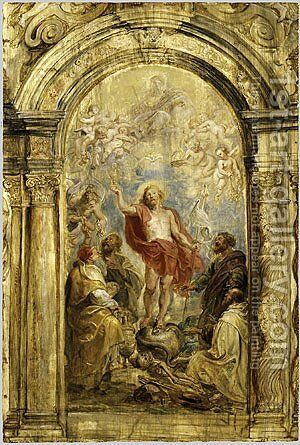 The Glorification of the Eucharist probably ca 1630 by Rubens - Reproduction Oil Painting