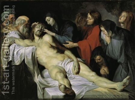 The Lamentation c 1613 1614 by Rubens - Reproduction Oil Painting