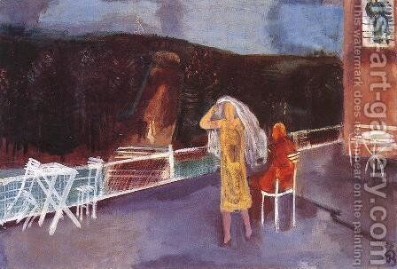 On the Terrace 1930 by Ary Schefer - Reproduction Oil Painting