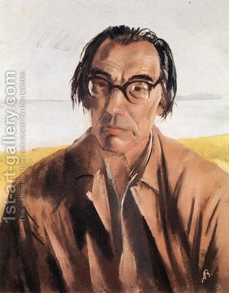Portrait of Lorinc Szabo 1955 by Ary Schefer - Reproduction Oil Painting