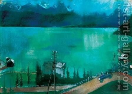Road at the Lakeside by Ary Schefer - Reproduction Oil Painting