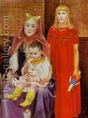 A Merchant Family In The XVII Century Detail 2 1896 by Andrei Petrovich Ryabushkin - Reproduction Oil Painting