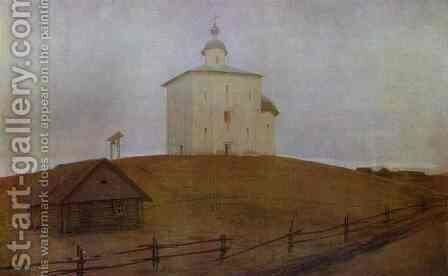 Novgorod Church 1903 by Andrei Petrovich Ryabushkin - Reproduction Oil Painting