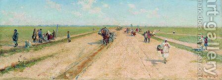 Road 1887 by Andrei Petrovich Ryabushkin - Reproduction Oil Painting