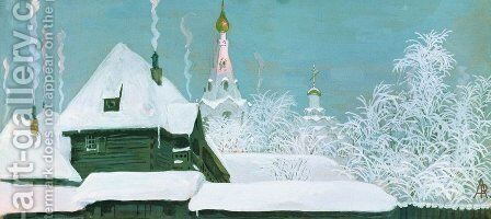 Winter Morning 1903 by Andrei Petrovich Ryabushkin - Reproduction Oil Painting