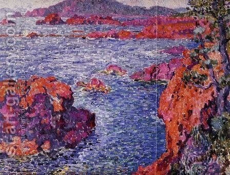 Rocks at Antheor 1906 by Theo Van Rysselberghe - Reproduction Oil Painting
