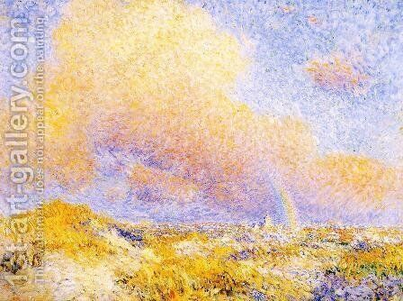 Village under a Rainbow as Seen from the Dunes 1887 by Theo Van Rysselberghe - Reproduction Oil Painting