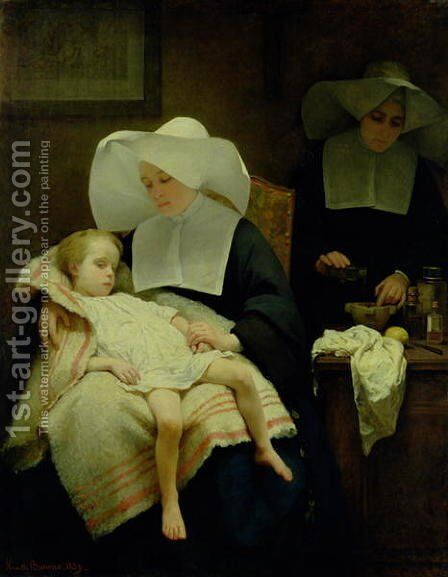 The Sisters of Mercy 1859 by Henriette, Hon. R.I. Browne - Reproduction Oil Painting