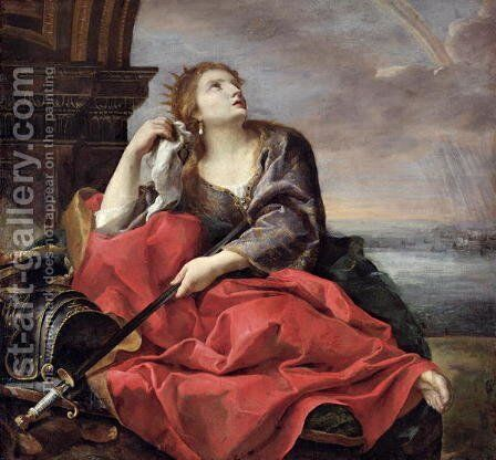 The Death of Dido by Andrea Sacchi - Reproduction Oil Painting