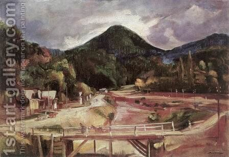 Bridge in the Valley 1929 by Imre Amos - Reproduction Oil Painting