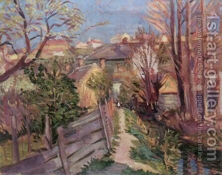 View at Veszprem 1946 by Imre Amos - Reproduction Oil Painting