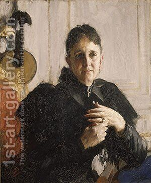 Mrs John Crosby Brown ca 1900 by Anders Zorn - Reproduction Oil Painting