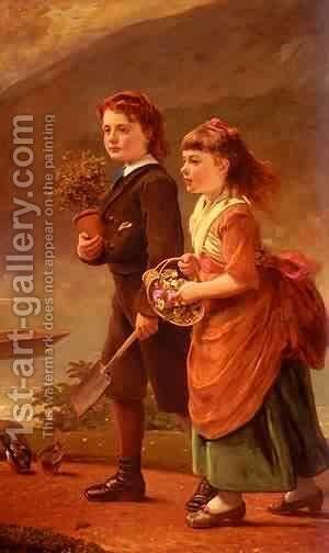 Sant James The Children Of Major H Barrett Of Moredon  Taunt by Alessandro Sani - Reproduction Oil Painting