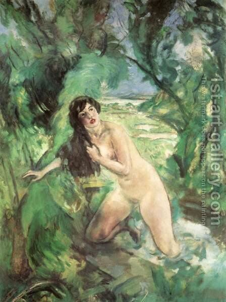 Bathing Woman (Susanna) 1920 28 by Istvan Csok - Reproduction Oil Painting