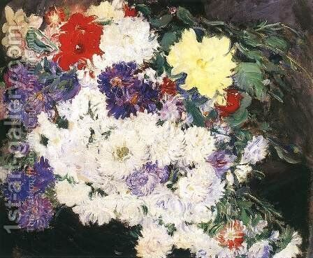 Daisies 1913 by Istvan Csok - Reproduction Oil Painting