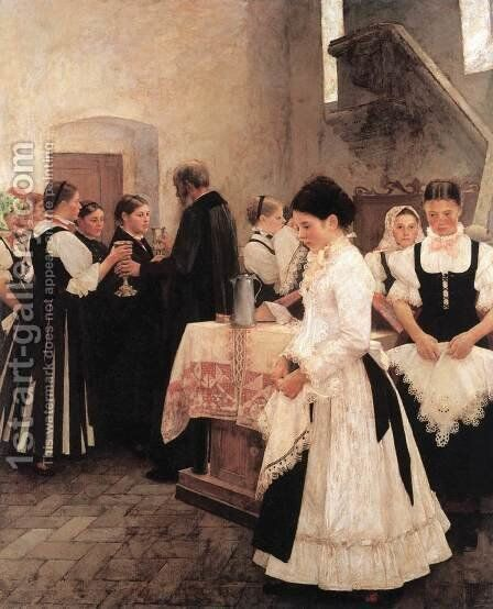 Do this in Memory of Me (Holy Communion) 1890 by Istvan Csok - Reproduction Oil Painting