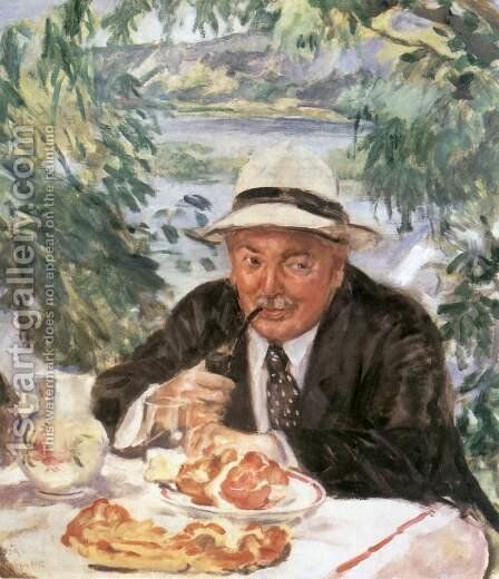 Godfather at Breakfast 1932 by Istvan Csok - Reproduction Oil Painting