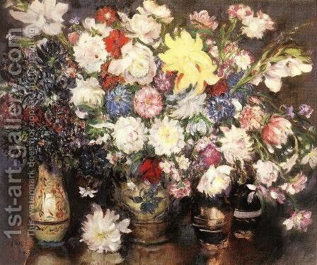 Still life with Flowers 1929 by Istvan Csok - Reproduction Oil Painting