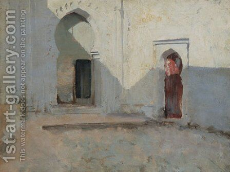 Courtyard Tetuan Morocco by Sargent - Reproduction Oil Painting