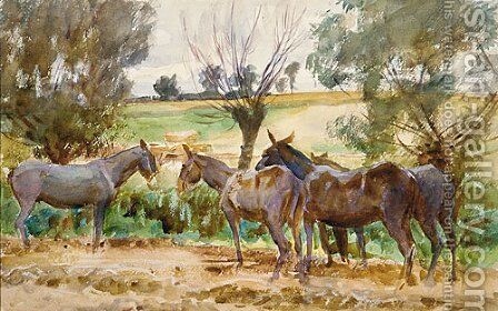 Mules 1918 by Sargent - Reproduction Oil Painting
