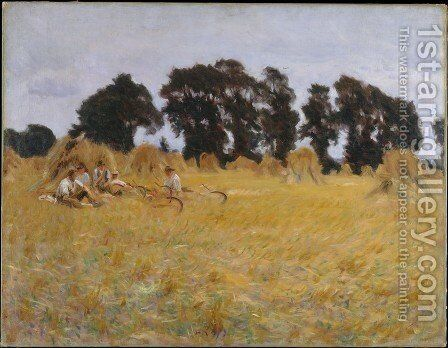 Reapers Resting in a Wheat Field 1885 by Sargent - Reproduction Oil Painting