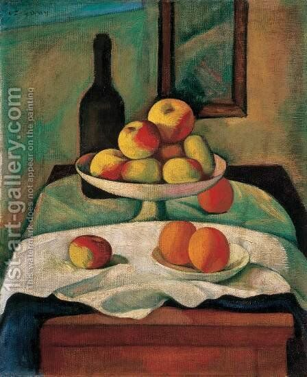 Still life with Apples and Oranges 1910s by Dezso Czigany - Reproduction Oil Painting