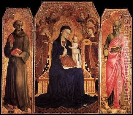Virgin and Child with Saints 1437-44 by Stefano Di Giovanni Sassetta - Reproduction Oil Painting