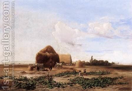 Harvesting Watermelons 1852 by Andras Marko - Reproduction Oil Painting