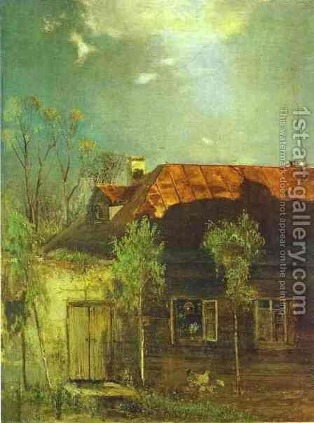A Provincial Cottage Spring 1878 by Alexei Kondratyevich Savrasov - Reproduction Oil Painting