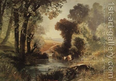Summer Landscape 1860s by Alexei Kondratyevich Savrasov - Reproduction Oil Painting
