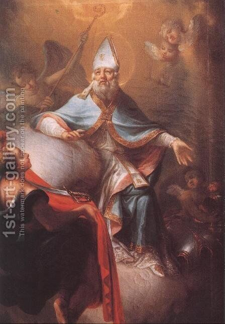 St Martin in Glory by Istvan Dorffmaister - Reproduction Oil Painting